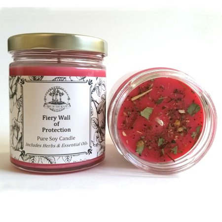 Fiery Wall of Protection Soy Spell Candle for Rituals & Spells of Protection (Hoodoo, Wiccan, Pagan, Conjure Rituals) (Hoodoo Candle)