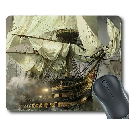 "GCKG (GCKG-Mousepad) Cool Pirate Ship Mouse Pad Personalized Unique Rectangle Gaming Mousepad 9.84""(L) x 7.87""(W)"