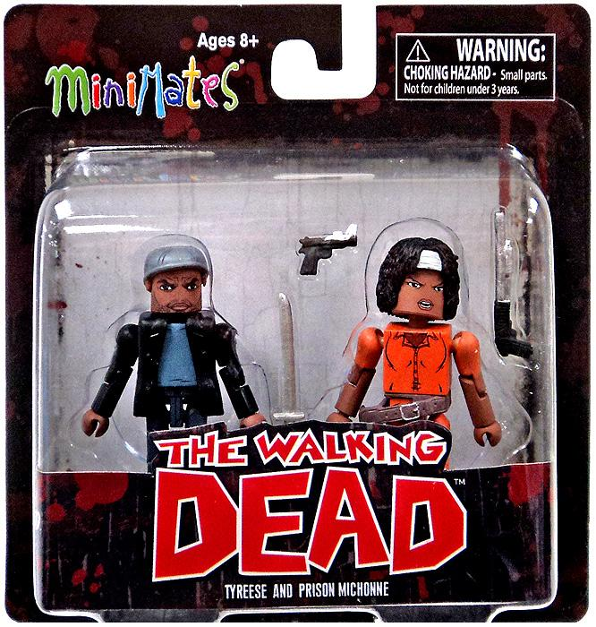 The Walking Dead Minimates Series 5 Tyreese & Prison Michonne Minifigure 2-Pack
