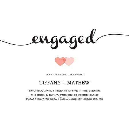 Halloween Wedding Invites (Loving Engagement Party Invite Standard)