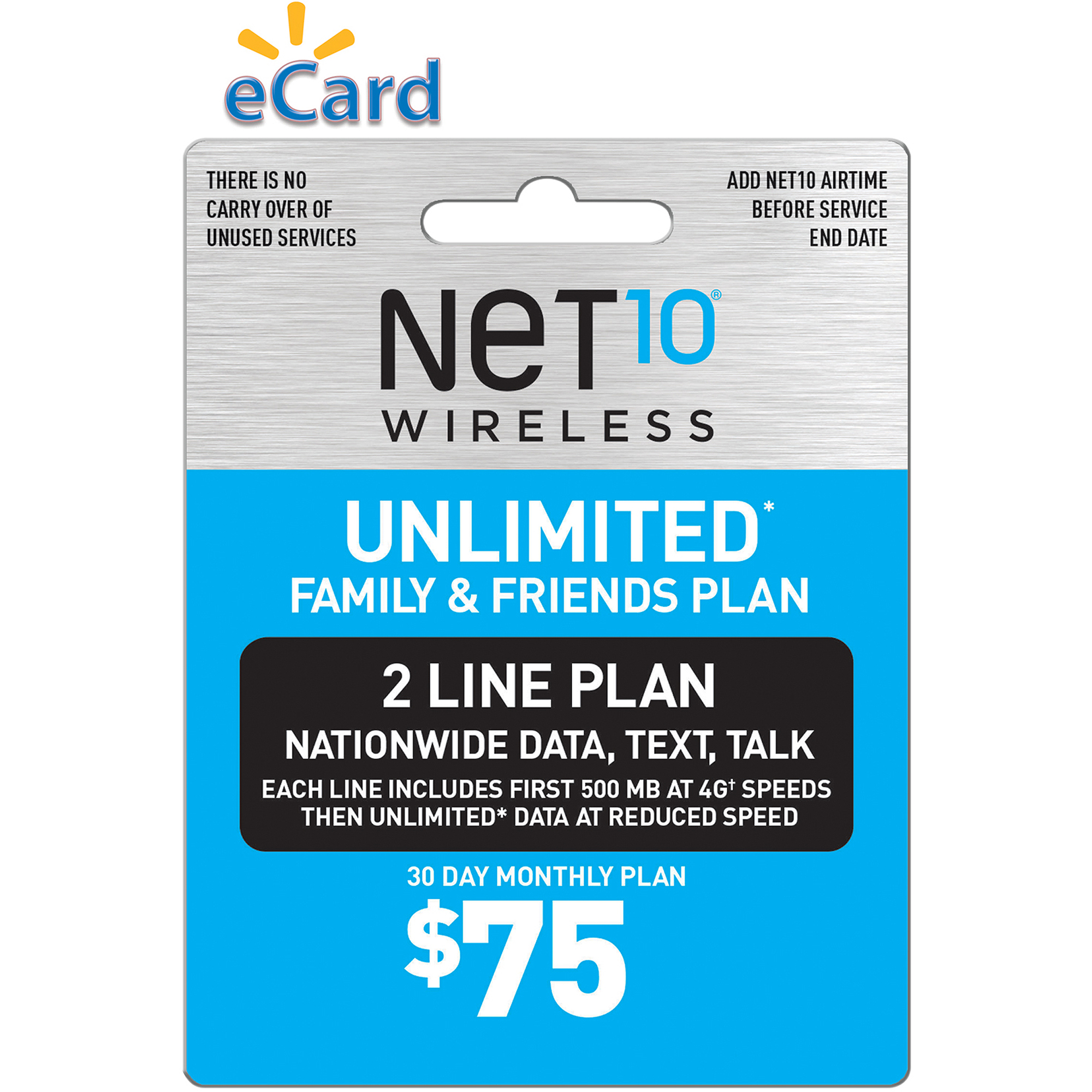 NET10 Direct Load $75 (Email Delivery)