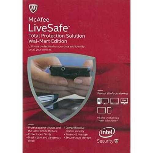 McAfee LiveSafe - Total Protection Solution (Unlimited* Device License) (2015 Edition)