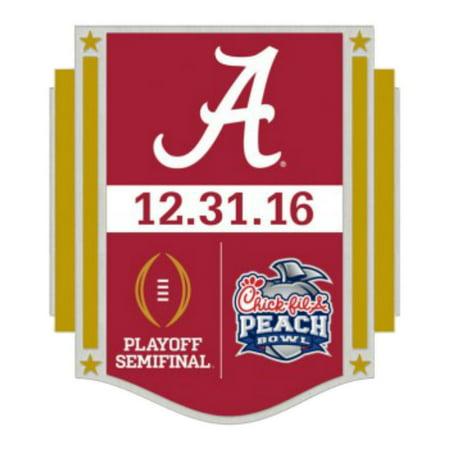 Alabama Crimson Tide 2016 Peach Bowl Playoff Semifinal 12 31 16 Metal Lapel Pin