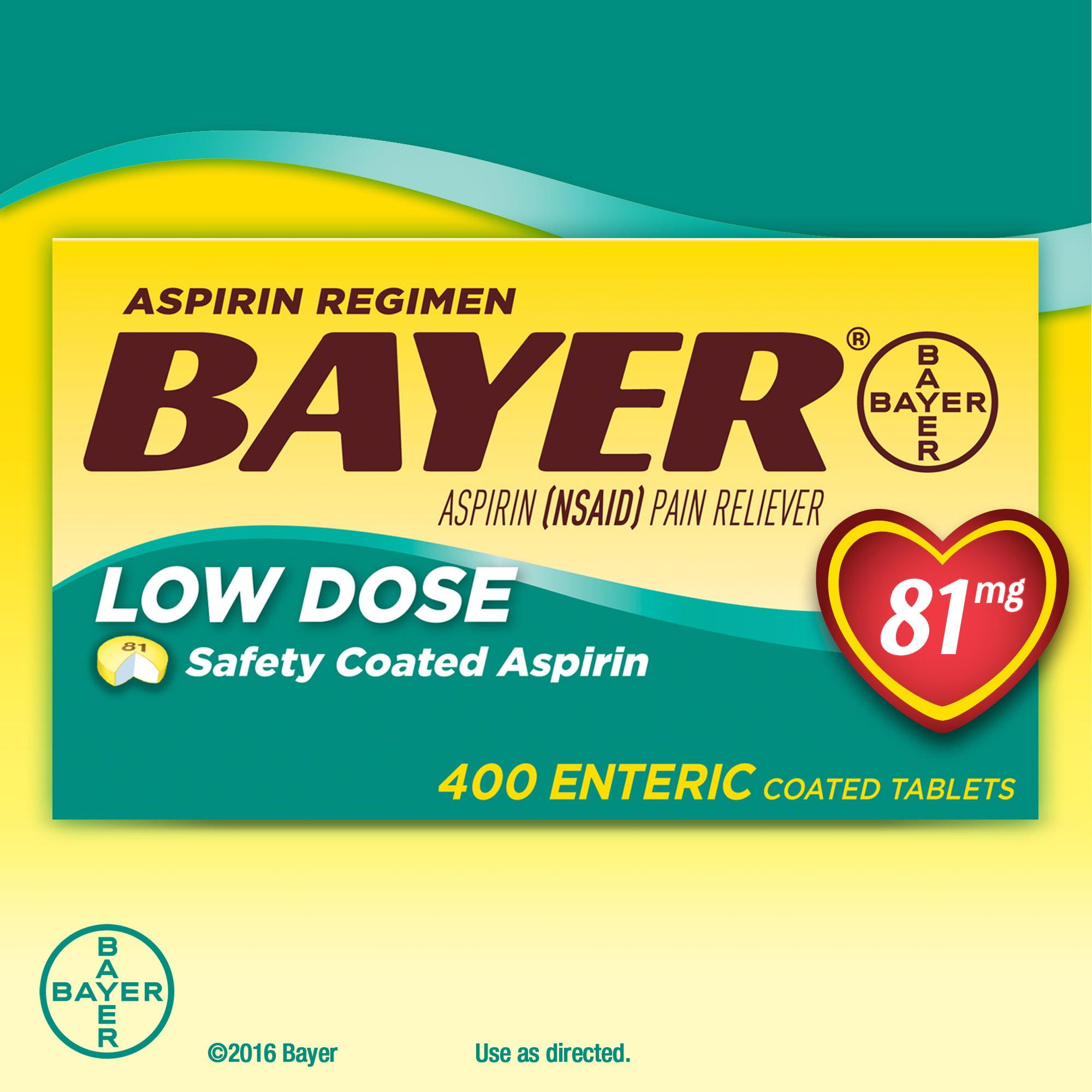 Aspirin Regimen Bayer 81 mg. Low Dose 400 Tablets
