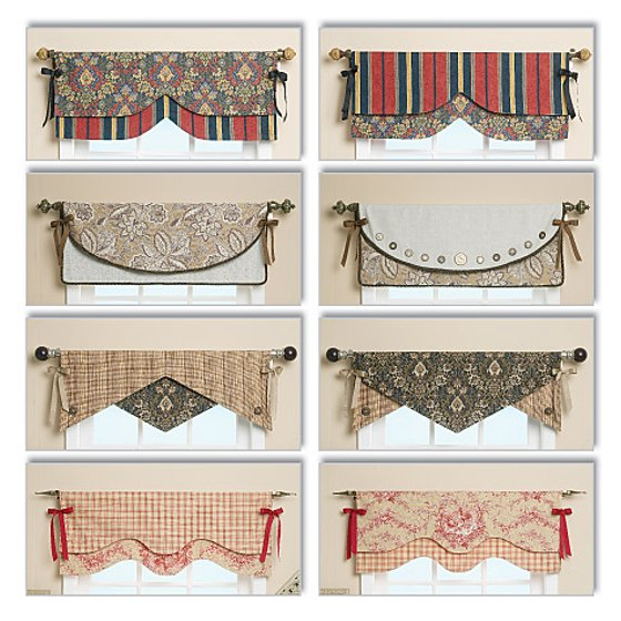 McCall PatternReversible Window Valance-One Size Only