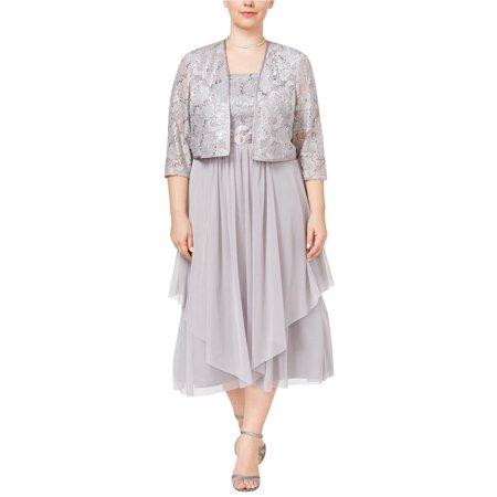 5c230c96a48 R M Richards - RM Richards Women s Plus Size Floral Lace Mother of The  Bride Dress - Walmart.com