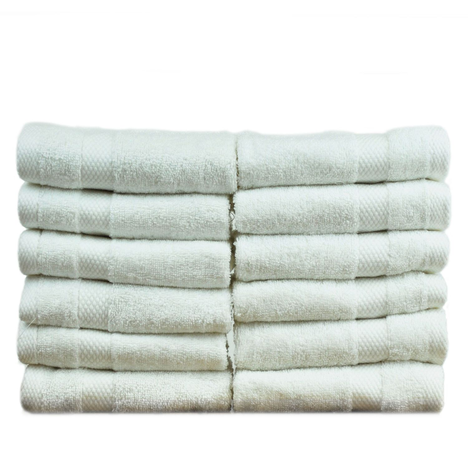 Bare Cotton Luxury Hotel & Spa Towel 100% Genuine Turkish Cotton Washcloths - White - Honeycomb - Set of 1