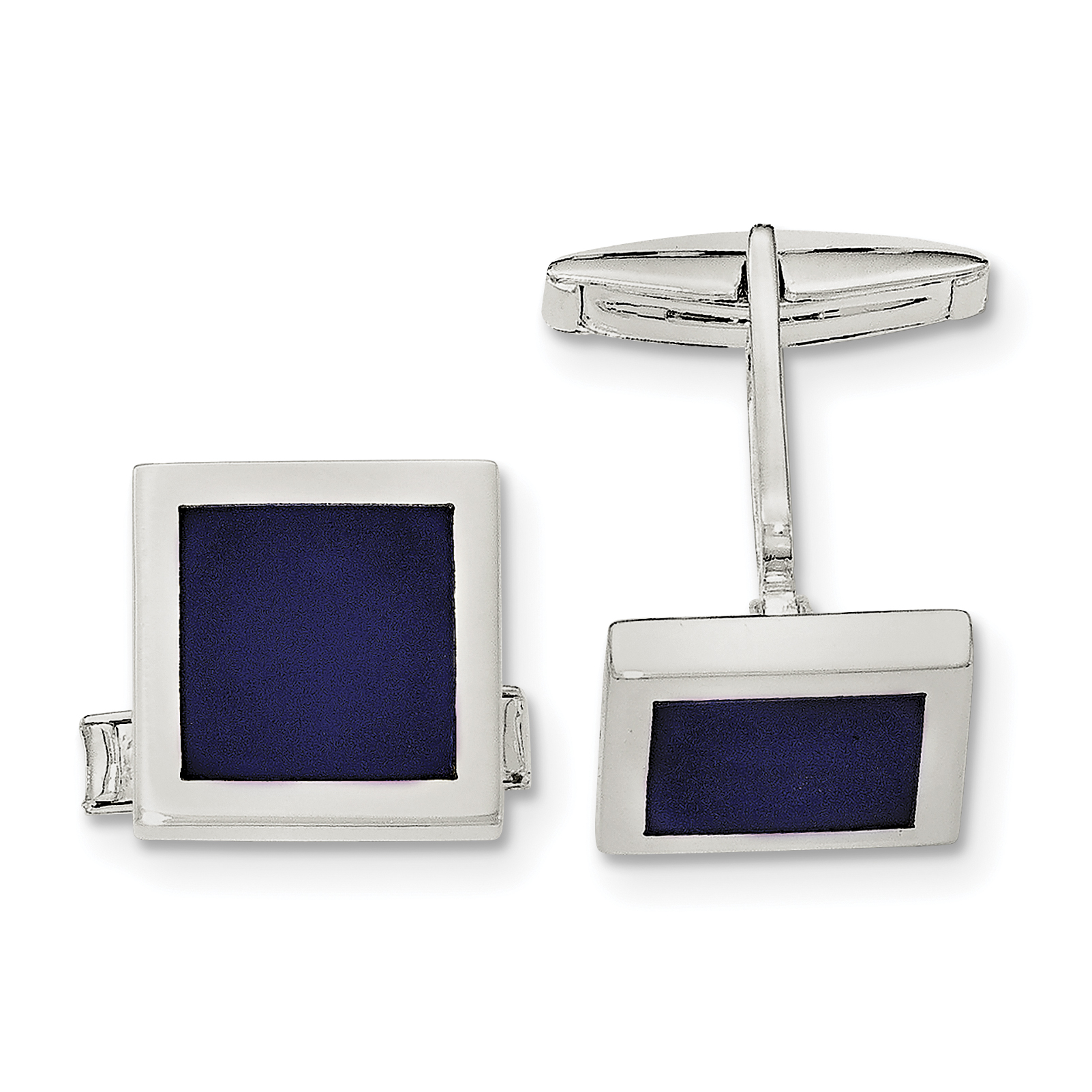 Roy Rose Jewelry Sterling Silver Lapis Cuff Links