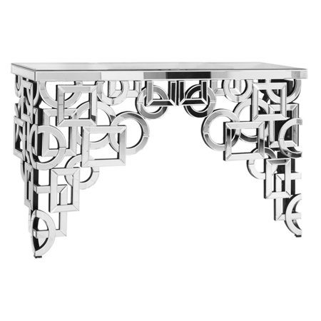 Elegant Lighting Decorative Silver Console Table
