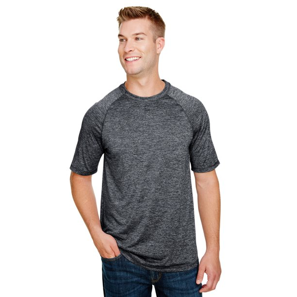 A Product of Holloway Men's Electrify 2.0 Short-Sleeve - BLACK HEATHER - XL