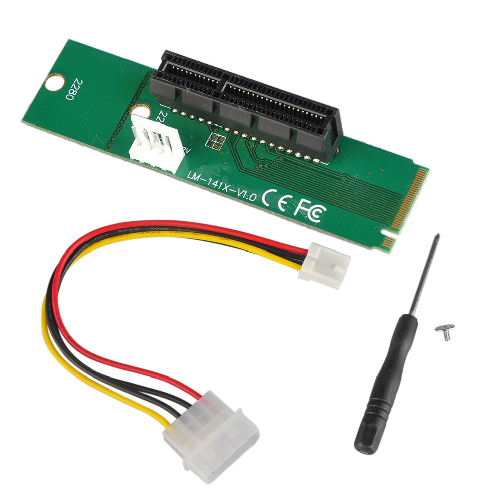 PCI-e 1x/4x Card in an M.2 NGFF M Key Slot in the Desktop or Laptop for Mining Bitcoin Litecoin