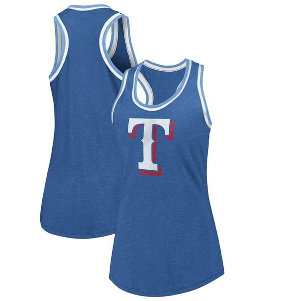 Texas Rangers Fanatics Branded Women S True Classics Double Bound Scoop Neck Tank Top Royal Walmart Com Walmart Com