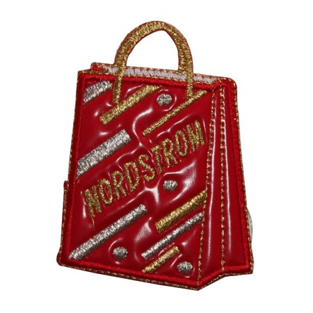 ID 8379 Vinyl Nordstrom Shopping Bag Patch Store Embroidered Iron On Applique