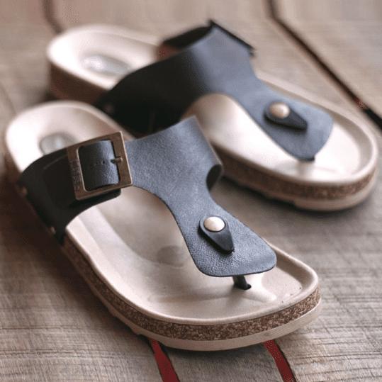 Flip Flops Summer Cork Sandals Slippers Womens Mens Lovers Beach Flats Shoes F//S