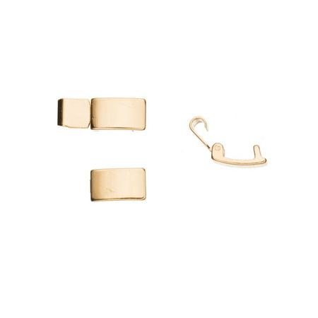 Bracelet Buckle/Watch Clasp Fold-Oval Buckle 14K Gold Finished Copper, 10x6mm 6pcs/pack (3-Pack Value Bundle), SAVE - Copper Gold Clasps