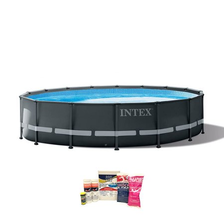Intex 16ft x 48in Ultra XTR Round Frame Above Ground Pool, Pump, & Cleaning Kit Lomart Above Ground