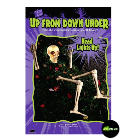Skeleton Ground Prop with Lite Up Eyes