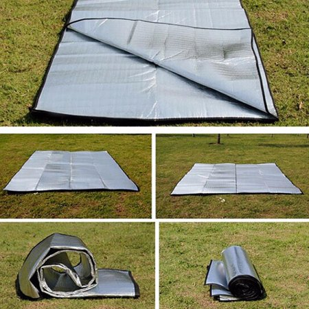 Double Sided Foldable Waterproof Aluminum Foil Mat Outdoor Travel Beach Mat - image 5 of 8