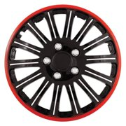Cobra Black Chrome With Red Accent 16 in. Wheel Cover Set (Set of 4 Covers)