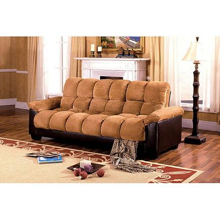 Brantford Microfiber And Leatherette Storage Futon Sofa