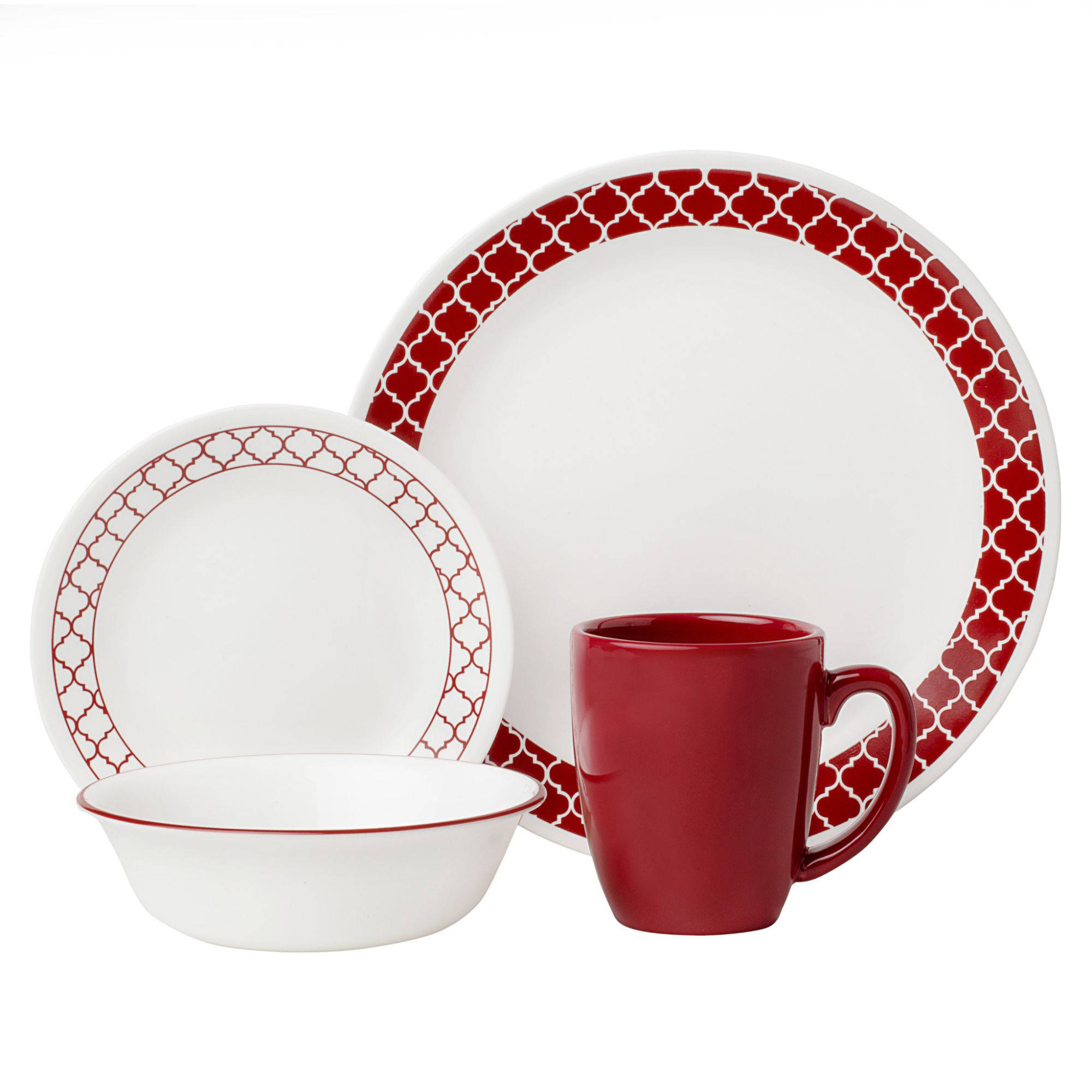 sc 1 st  Walmart & Corelle Livingware Crimson Trellis 16-Piece Dinnerware Set - Walmart.com