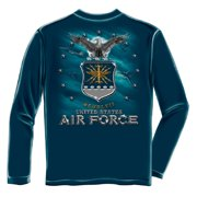 Air Force USAF Missile Long Sleeve T-Shirt by , Navy Blue