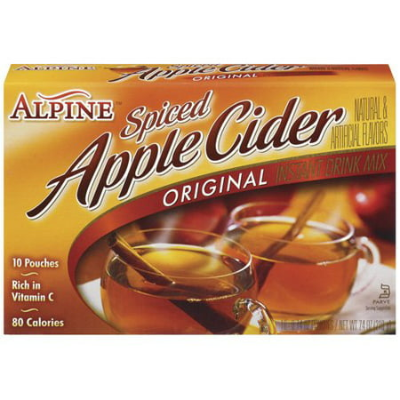 (3 Pack) Alpine Spiced Cider Apple Flavor Drink Mix, 10-Count, 7.4-Ounce - Adult Apple Cider