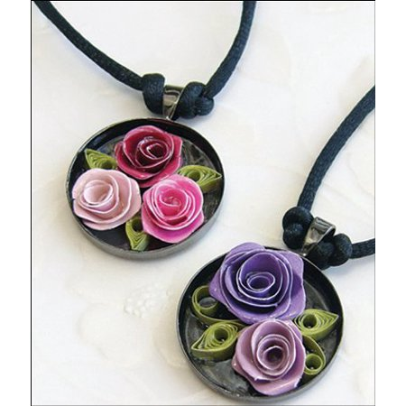 Quilling Kit Spiral Roses (Quilled Creations Quilling Kit, Romantic Roses Necklace)