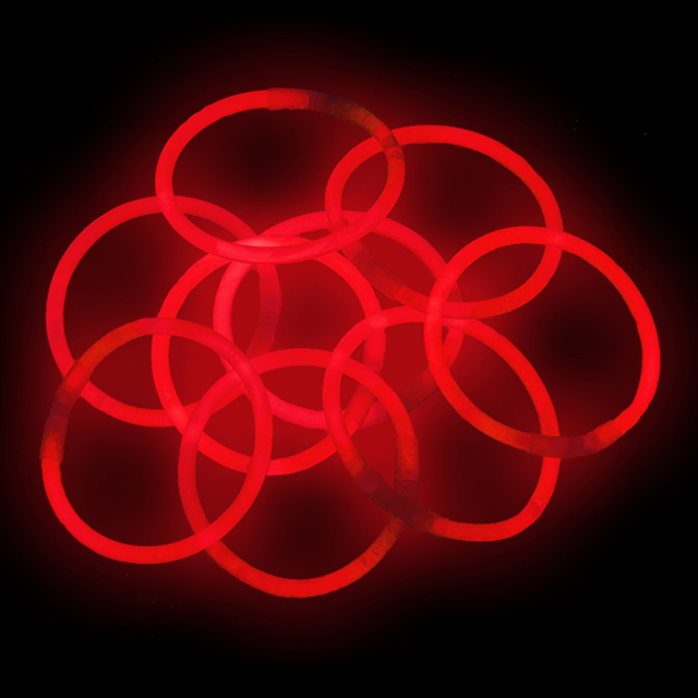"Lumistick 10"" Glow Stick Bracelets, Red, 100 ct"