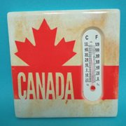 01046 - CANADA SOUVENIR THERMOMETER 3X3 MAPLE LEAF