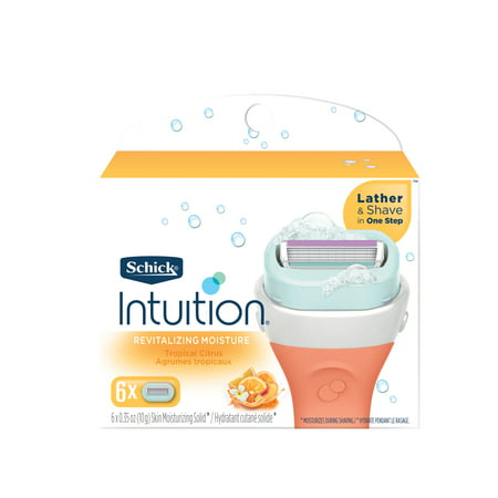 Schick Intuition Revitalizing Moisture Women's Razor Refills, 6 Ct Schick Intuition Plus Refills