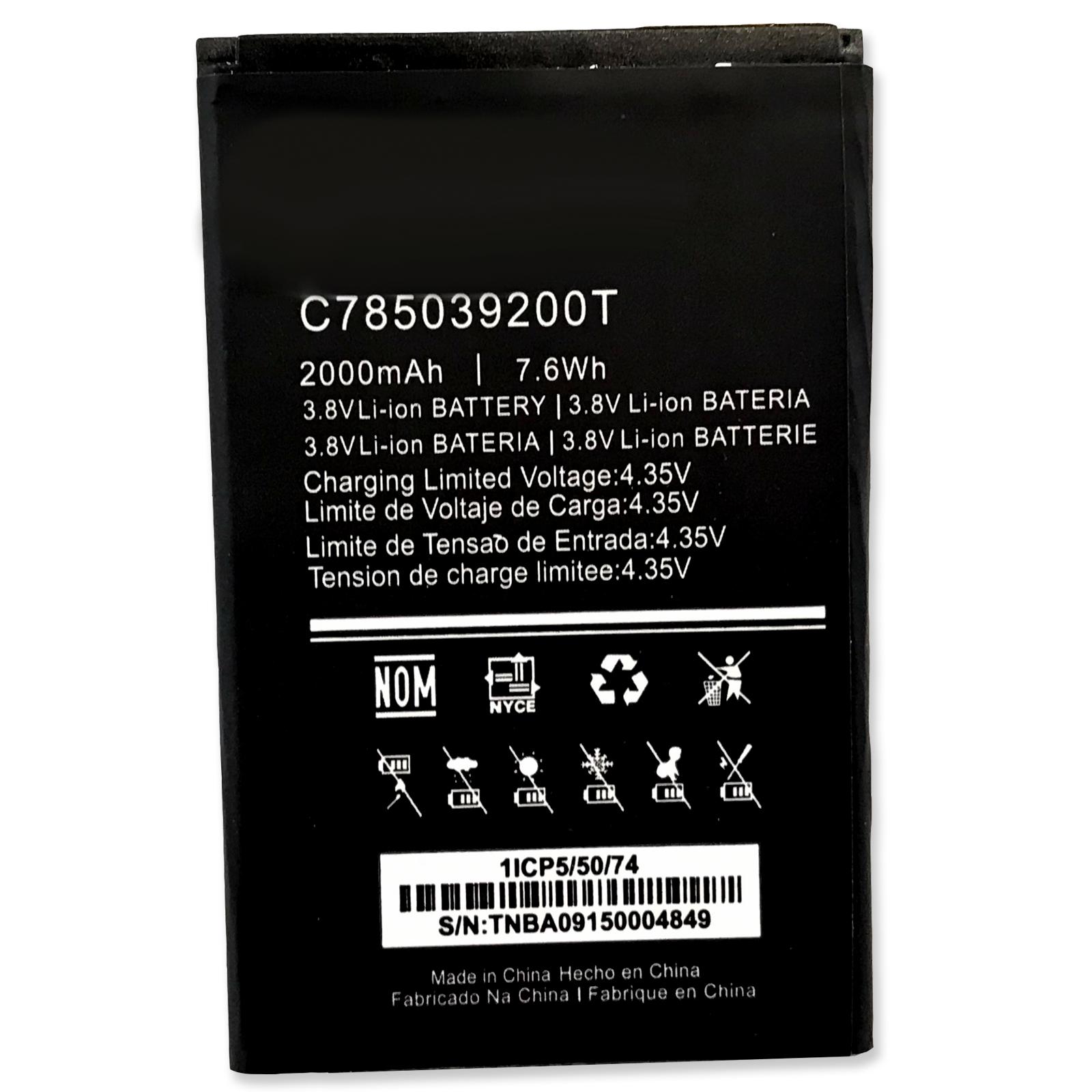 New 2000mAh 3.8V Li-ion Battery For C785039200T BLU DASH M2 D090 D090L D090U / DASH X2 D110 D110U D110L / DASH G D490 D490L D490U