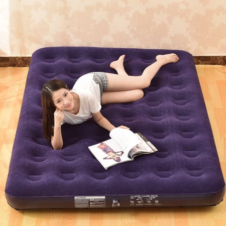 Classic Deluxe Inflatable Air Mattress Sleeping Sofa Mat Pad Bed -Twin/Queen/King Size (Pump not included)
