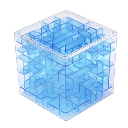 Mosunx 3D Cube Puzzle Maze Toy Hand Game Case Box Fun Brain Game Challenge Fidget Toys (Halloween Maze Puzzle Games)