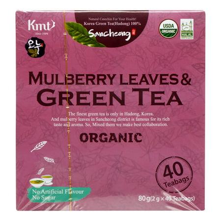 Hadong Mulberry organiques feuilles et thé vert, 40 Ct