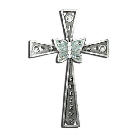 I Believe Cross with Inspirational Message Vintage