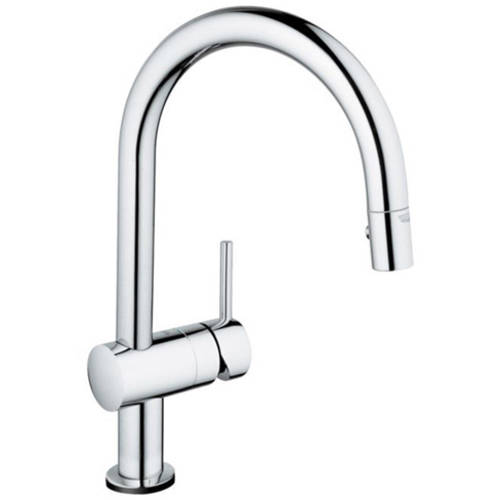 Grohe 31359000 Minta Touch Pull Down Kitchen Faucet with Touch Technology, Available in Various Colors