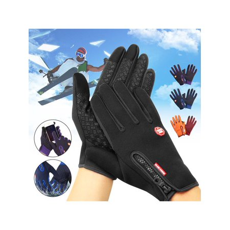Unisex Men Women Winter Warm Windproof Waterproof Anti-slip Thermal Touch Screen Gloves for Skiing Cycling Travelling Other Outdoor Full (Finger Tennis Gloves)