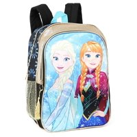 Disney Frozen Backpack Elsa And Anna Sisters Forever School Bag With Gold Trim