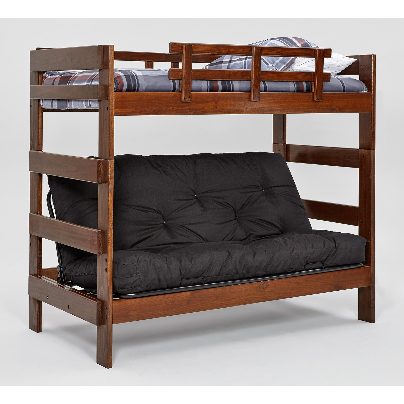 Woodcrest Heartland Chocolate Futon Bunk Bed Walmart Com
