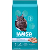 [Multiple Sizes] Iams ProActive Health Adult Indoor Weight & Hairball Care Dry Cat Food with Chicken & Turkey