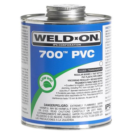Ips Corporation Ips Weldon 10081 1 2 Pint Clear 700 PVC Cement
