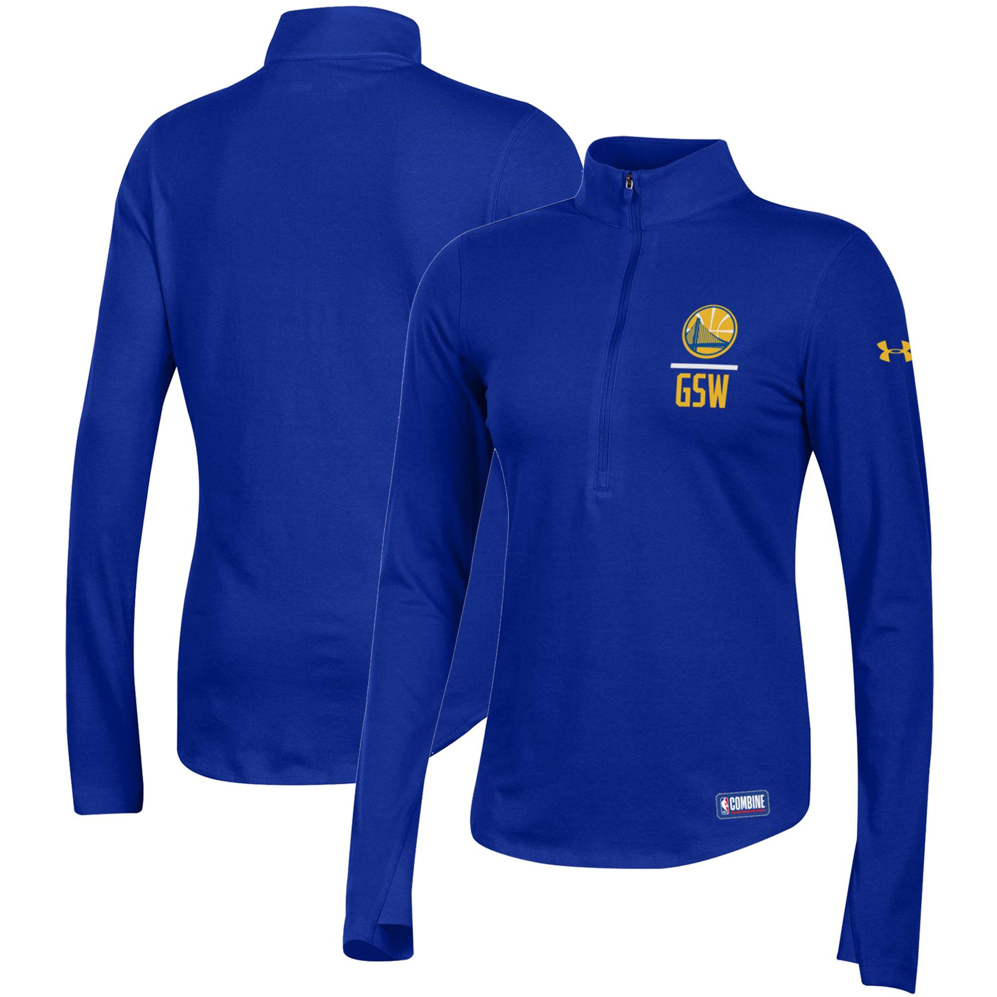 Golden State Warriors Under Armour Women's Combine Authentic Favorites Half-Zip Sweatshirt - Royal