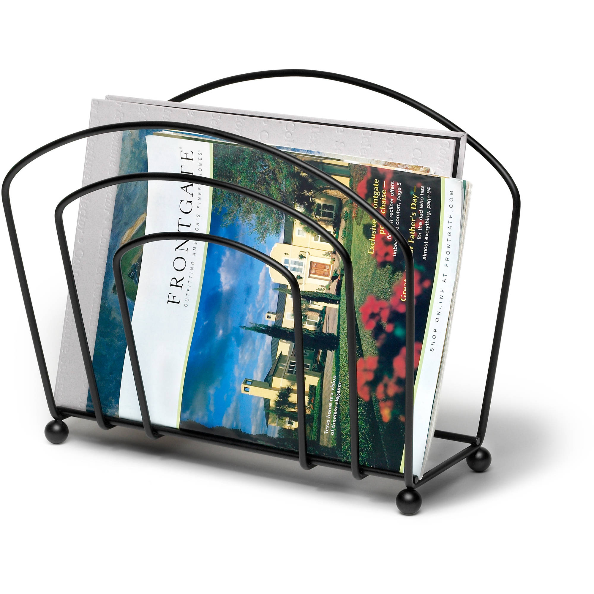 Spectrum Olympus Magazine Rack, Black