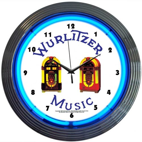 Neonetics 15'' Wurlitzer Jukebox Wall Clock