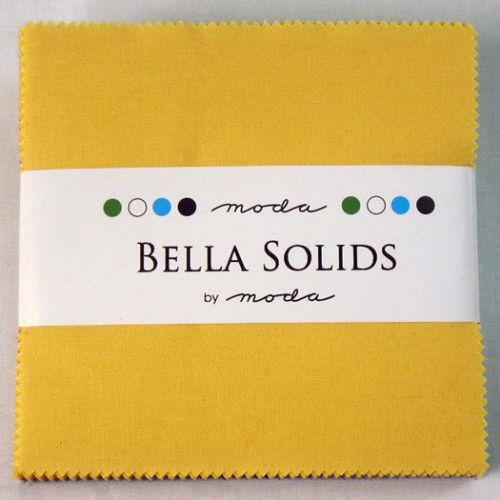"Bella 30's Solids  Charm Pack; 42 - 5"" Precut Fabric Quilt Squares"