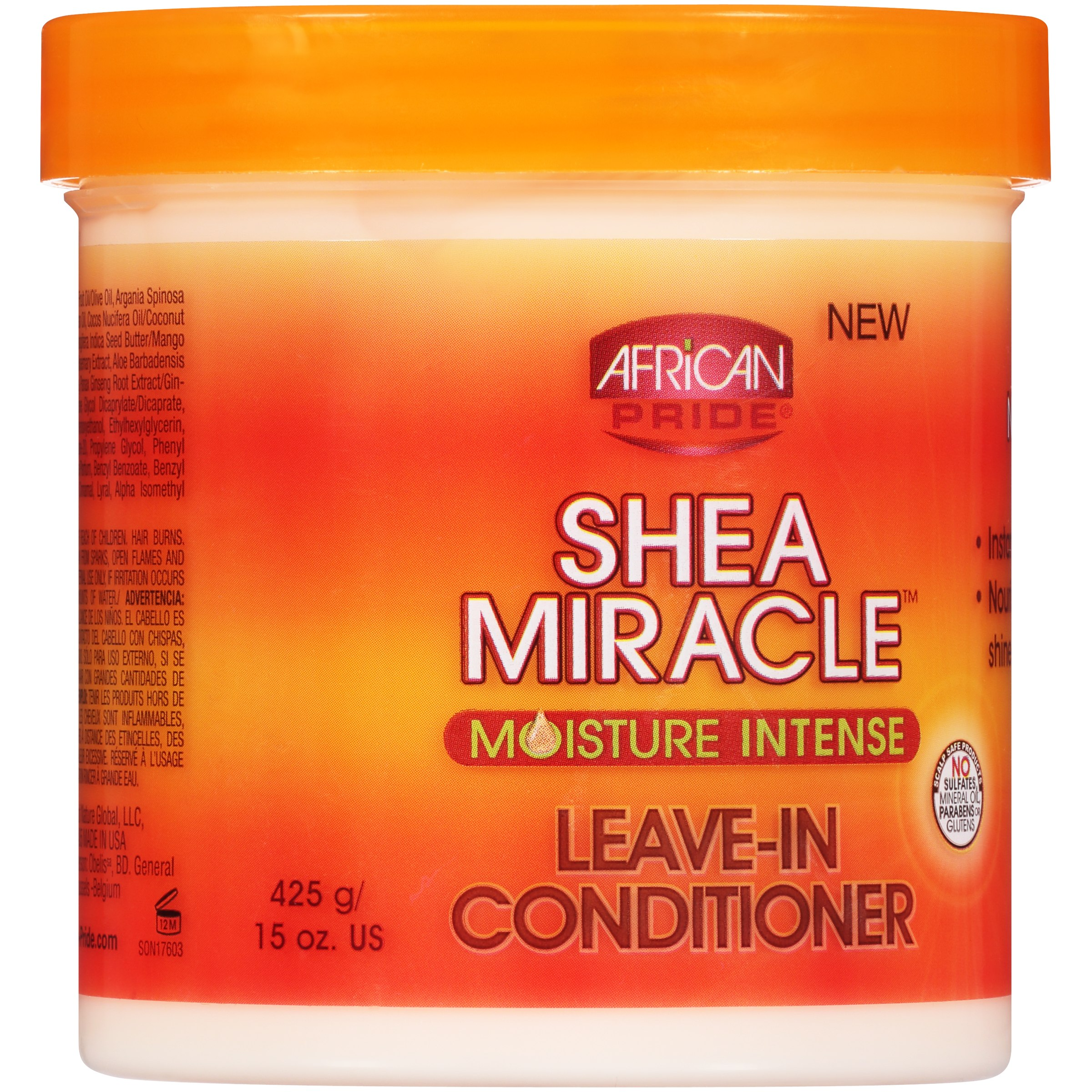 African Pride Shea Miracle Moisture Intense Leave-In Conditioner 15 oz. Jar