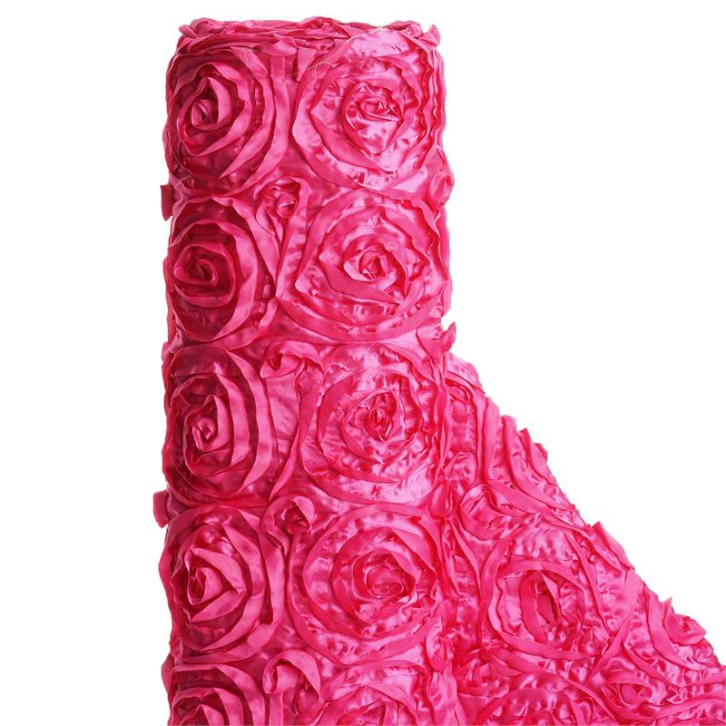 "BalsaCircle 54"" x 4 yards Ribbon Roses Fabric Bolt Put-up - Sewing Crafts Draping Decorations Supplies"