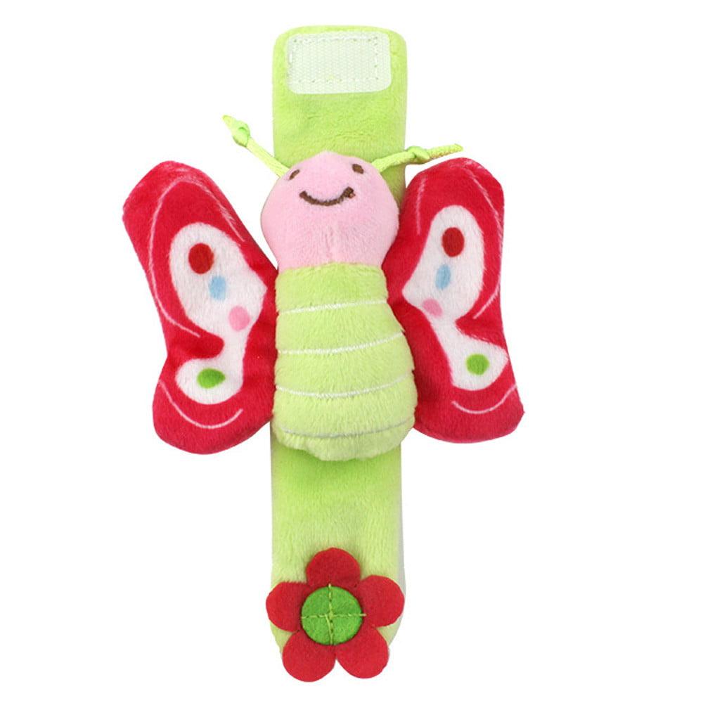 Multi shape Soft Toy Animal Baby Infant Kids Hand Wrist Bells Foot Sock Rattles