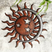 San Pacific International Sun Moon and Stars Outdoor Wall Art